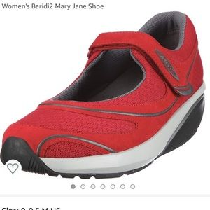 MBT red Mary Janes